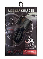 Автомобильное зарядное устройство Quick Charge 3.0 на 2 USB (3.1 A) Черный