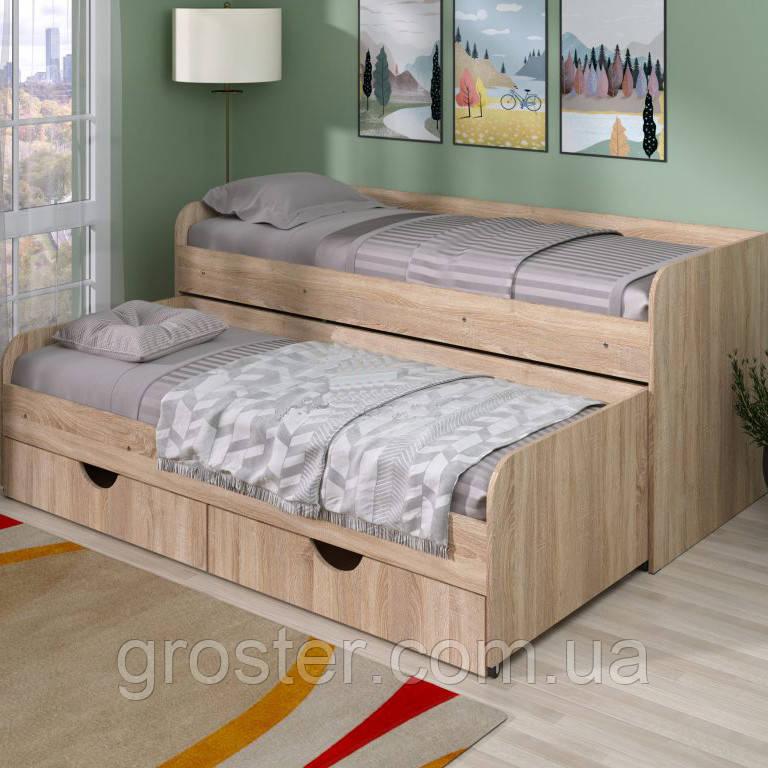 Кровать двухместная выдвижная Соня-5 с ящиками