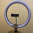 Кольцевая лампа 33 см со штативом на 2м лампа для селфи лампа для тик тока, фото 3