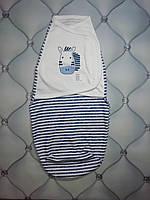 Пеленка-кокон, европеленка для новорожденных Зебра, трикотаж, на липучке, фото 1