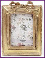 """Рамка для фотографий фоторамка """"Золотой Бант"""" фото 6.4х9см (цвета состаренного золота) BD-450-119"""