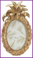 """Рамка для фотографий фоторамка Tudor """"Ананас"""" овальная, фото 10х15см (цвета состаренного золота) BD-450-144"""
