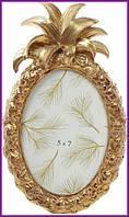"""Рамка для фотографий фоторамка Tudor """"Ананас"""" овальная, фото 13х18см (цвета состаренного золота) BD-450-145"""