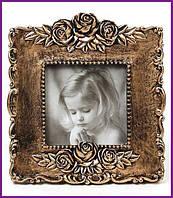 """Рамка для фотографий фоторамка Tudor """"Розы"""" 16х14.5см (цвета состаренной бронзы) BD-489-F120"""