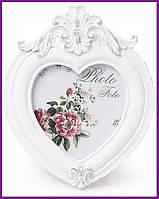 "Рамка для фотографий фоторамка Sweet White ""Белая Лилия"" форма сердца 12.7х10.3см BD-493-518"
