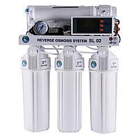 Сист.обр.осмоса Bio+ systems (мембр. Filmtec пр-во США) с насосом, блок управл.RO-75-SL02 +ПЛАСТ.бак