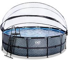 Бассейн с куполом EXIT камень 488х122 см (песочный фильтр)