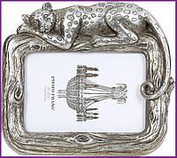 "Рамка для фотографий фоторамка ""Гепард"" для фото 10х15см, состаренное серебро BD-450-200"