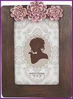 """Рамка для фотографий фоторамка Viljandi """"Flowers"""" для фото 10х15см, коричневый BD-450-204"""