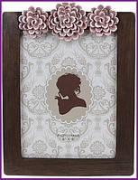 """Рамка для фотографий фоторамка Viljandi """"Flowers"""" для фото 15х20см, коричневый BD-450-207"""