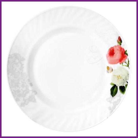 Набір 6 тарілок десертних Троянда-Бутік Ø17.5см, склокераміка