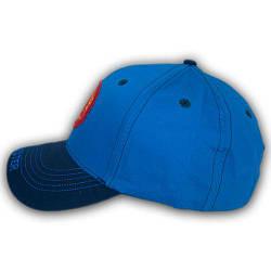Бейсболка летняя с логотипом, 54 р. голубая