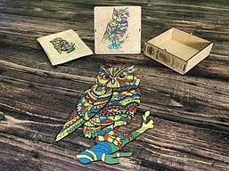 Пазл деревянний Naomibox Colorful Cat
