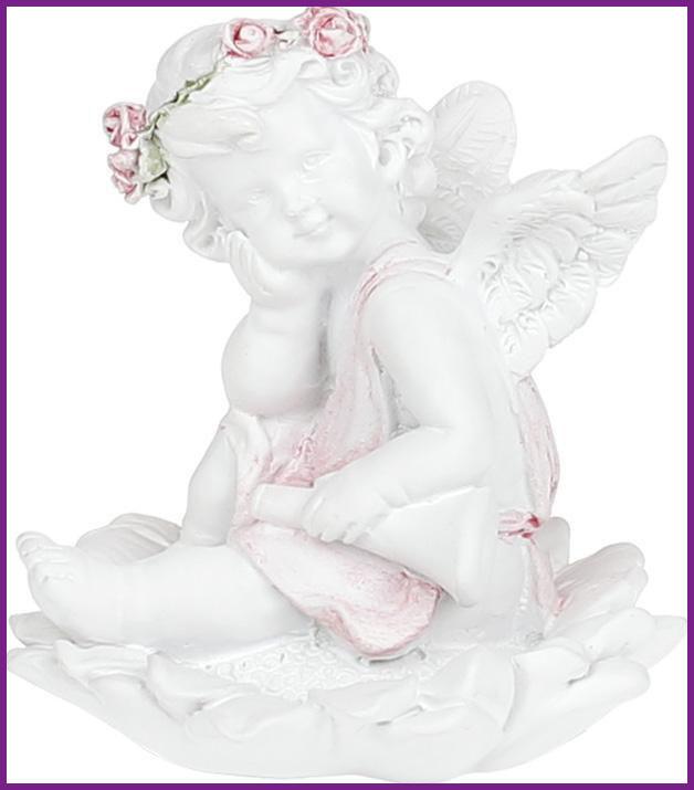 "Статуэтка декоративная ""Ангел на цветке"" 5.8х5.7х6.4см BD-887-148"