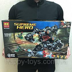 Конструктор Бэтмен  Флеш Лига Справедливости - Сражение в туннеле Супер Герои 646 деталей Bela 10845