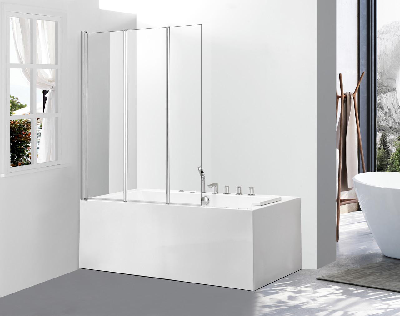 Стеклянная шторка для ванны Avko Glass 542-3 120х140 Clear