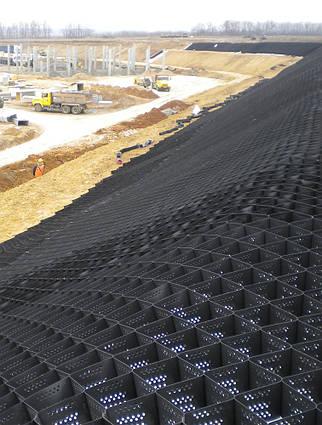 Георешетка объемная ГРП 20/20, 12м2/модуль, пластиковая газонная решетка