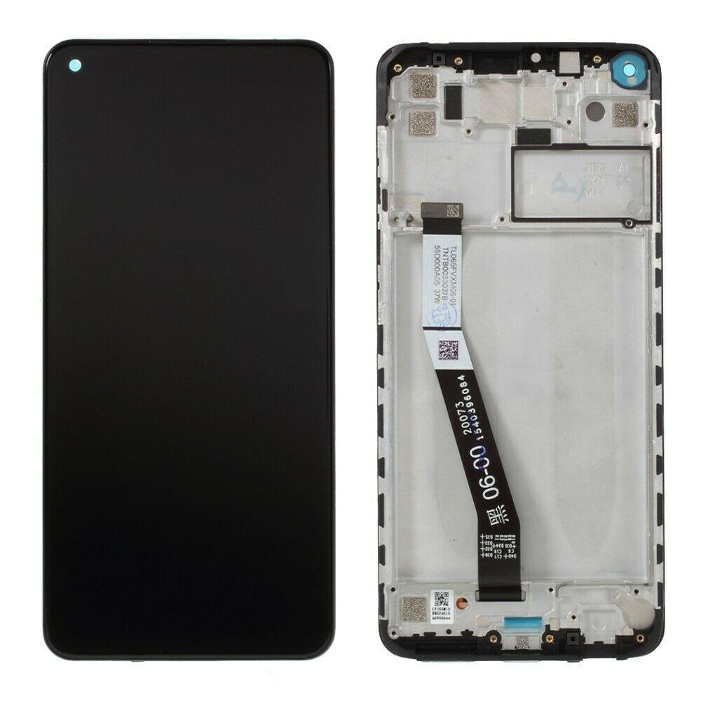 Дисплей для Xiaomi Redmi Note 9 Pro с сенсором (тачскрином) и рамкой серебристый Оригинал