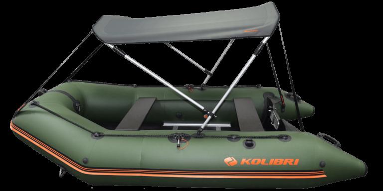 Солнцезащитный тент для моторных надувных лодок Колибри КМ-400DSL, КМ-450DSL