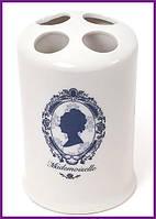 Подставка стакан для зубных щеток Mademoiselle Ø8.7х13.4см, фарфор BD-855-153