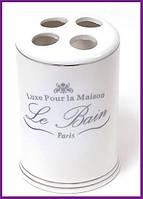 Подставка стакан для зубных щеток LE BAIN Ø7.6х11.7см, фарфор BD-855-110