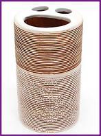 """Подставка стакан для зубных щеток """"Халкида-I"""" Ø6.5х11.5см BD-853-152"""