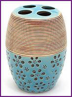 """Подставка стакан для зубных щеток """"Халкида"""" Ø7х10.5см BD-853-132"""