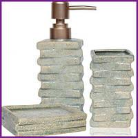 Набор аксессуаров для ванной комнаты «Атлантида» дозатор мыльница и стакан ST-887-11-01
