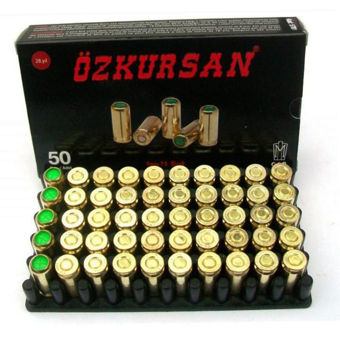 Холостий Патрон Ozkursan 9 мм P. A. Blank, 50 шт. (11603-50)