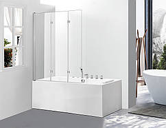 Стеклянная шторка для ванны Avko Glass 542-7 120х140 Clear
