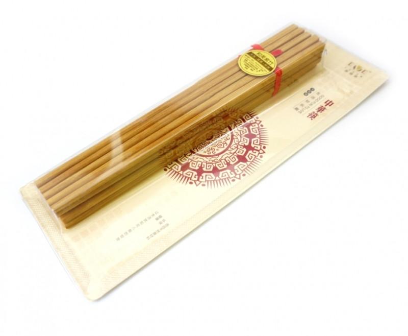 Палочки для еды бамбук в блистере набор 10 пар, для суши