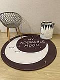 """Бесплатная доставка! С небольшим браком! Утепленный коврик """"Луна""""  (150 см диаметр), фото 3"""