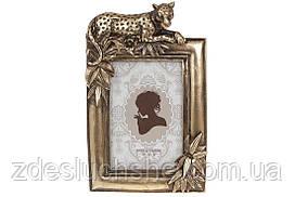 Рамка для фото прямоугольная Леопард, 24см, цвет - бронзовый, размер фото - 10х15см SKL82-276261