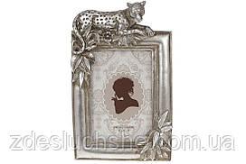 Рамка для фото прямоугольная Леопард, 24см, цвет - стальной, размер фото - 10х15см SKL82-276262