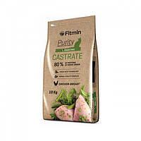 Комплексный корм для взрослых котов с избыточным весом Fitmin cat Purity Castrate 10 кг