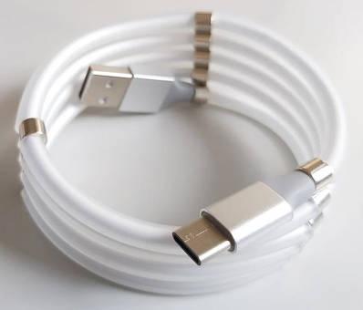Магнитный Кабель для зарядки телефонов и планшетов USB - micro USB Micro V8 1м