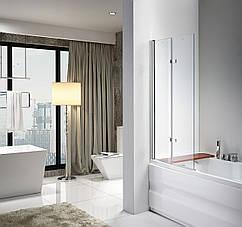 Стеклянная шторка для ванны Avko Glass 647 100x140 Clear