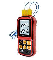 Термометр цифровой двухканальный -250-1767°C BENETECH GM1312, фото 1