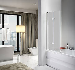 Стеклянная шторка для ванны Avko Glass 647 120x140 Frosted