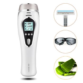 Фотоэпилятор JIN BISON A8 с охлаждением Функция 3в1 (эпиляция - омоложение кожи – лечение прыщей) + ПОДАРОК