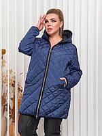 Стильная весенняя куртка женская 52-54 56-58 60-62 64-66 черный кирпич зеленый синий