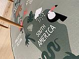 """Плюшевий килимок """"Мішутка"""" утеплений (150 см діаметр), фото 7"""