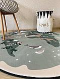 """Плюшевий килимок """"Мішутка"""" утеплений (150 см діаметр), фото 4"""