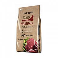Корм для взрослых длинношерстных котов Fitmin cat Purity Hairball 1.5 кг