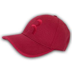 Бейсболка без регулировки с логотипом, 56-57 р. красная
