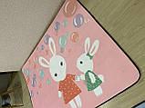 Бесплатная доставка! С небольшим дефектом!Ковер в детскую «Бабл гам» утепленный коврик мат (1.5*2 м), фото 3