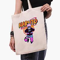 Еко сумка шоппер Наруто Узумакі (Naruto Uzumaki) (9227-2629) 41*35 см, фото 1