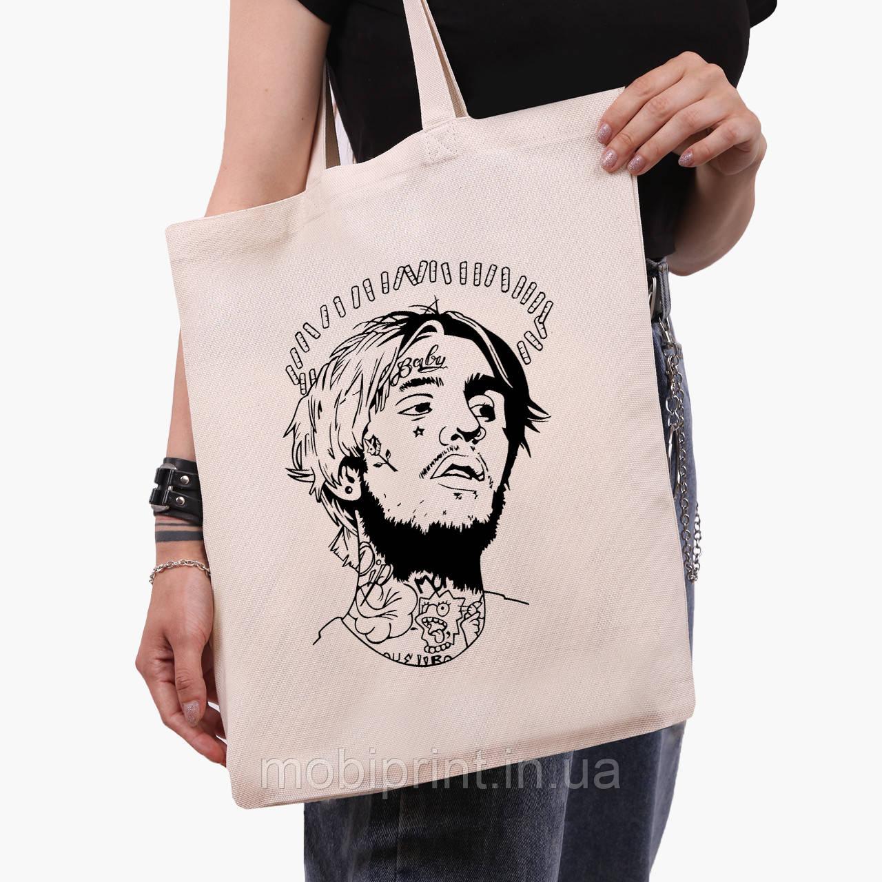 Еко сумка шоппер Лив Піп (Lil Peep) (9227-2634) 41*35 см