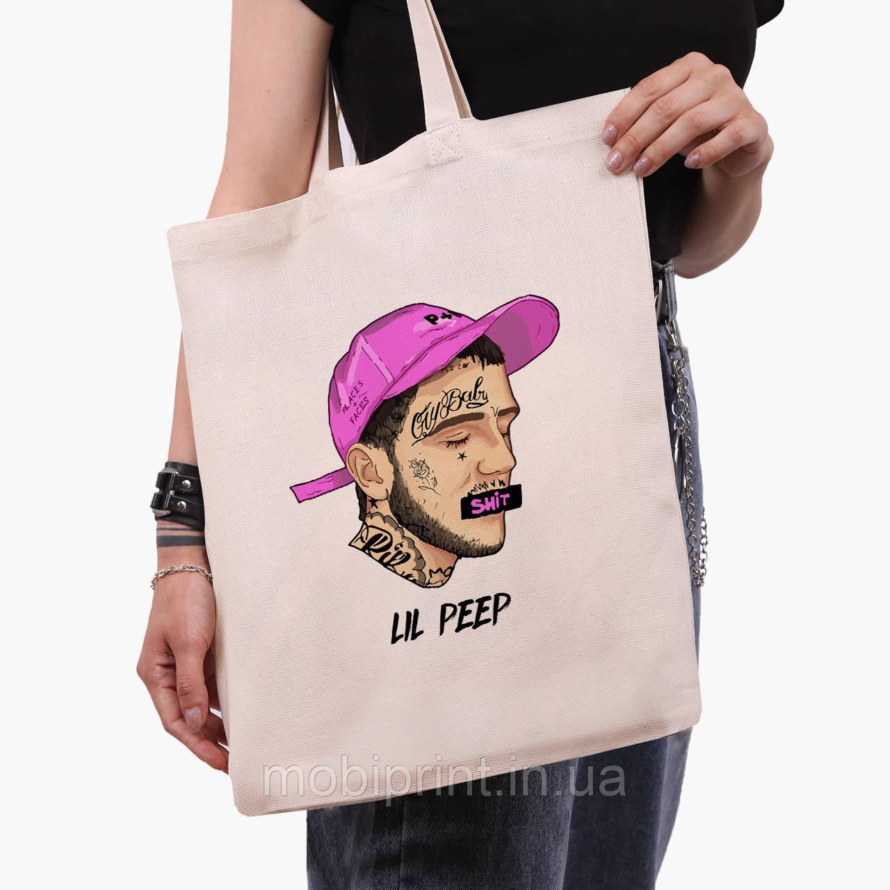 Еко сумка шоппер Лив Піп (Lil Peep) (9227-2635) 41*35 см