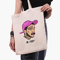 Еко сумка шоппер Лив Піп (Lil Peep) (9227-2635) 41*35 см, фото 1